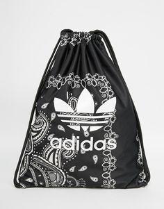 adidas Originals Paisley Print Drawstring Backpack - one of the three adidas…