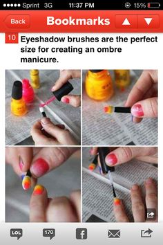 Dyi ombre nails