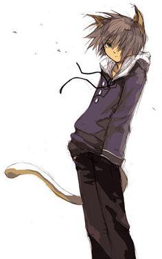 Cute anime neko boy