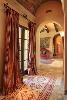 Tuscan - mediterranean - hall - phoenix - Wendy Black Rodgers Interiors