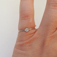 $150 moissanite Dainty Delicate Gold Engagement Ring by TheSilmarillion on Etsy