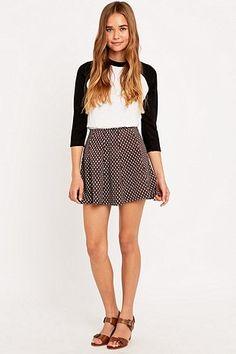 Urban Outfitters Retro Print Jacquard Skirt