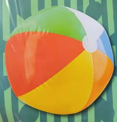 f838e497c2 LARGE INFLATABLE BEACH BALL-SWIMMING POOL TOY-76CM-BLOW UP LARGE/GIANT