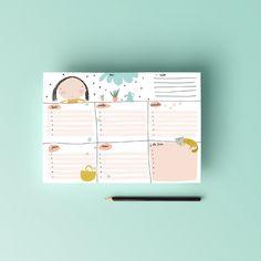 Planificador semanal, planner