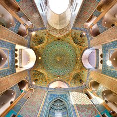 """awkwardsituationist: """" photos by mohammad reza domiri ganji in iran of: the dome of the seyyed mosque in isfahan; the nasīr al mulk mosque, or pink mosque, in shiraz; the vakil mosque. Persian Architecture, Mosque Architecture, Beautiful Architecture, Art And Architecture, Ancient Architecture, Houses Of The Holy, Beautiful Mosques, Architectural Photographers, Grand Mosque"""