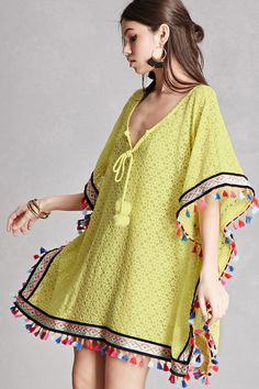 Forever 21 is the authority on fashion & the go-to retailer for the latest trends, styles & the hottest deals. Shop dresses, tops, tees, leggings & more! Lace Outfit, Lace Dress, Kaftan Pattern, Mode Kimono, Mode Boho, African Fashion Dresses, Beach Dresses, Bohemian Style, Designer Dresses