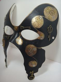 Steampunk Butterfly Paper Mache mask. £30.00, via Etsy.