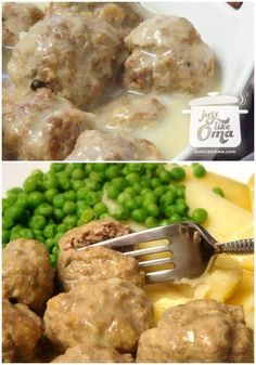 Yummy German meatballs, called Königsberger Klopse with a Hollandaise sauce - http://www.quick-german-recipes.com/german-meatballs.html ❤️ Like it! Share it!