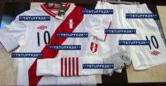 2013/2014 Umbro Peru National Team Home KIT (Jersey, Shorts, Socks) Match Prepared for Jefferson Farfan #10 Size MEDIUM.....For Sale - New with Tags....Email me with any questions. (FRONT VIEW) Escribenme a mi inbox si quieren comprarla.