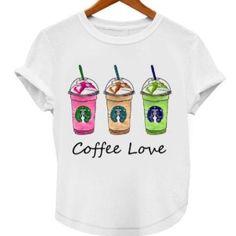 I love coffee; Frapuccino Tshirt Very soft fabric. Ready to ship. Starbucks Tops Tees - Short Sleeve