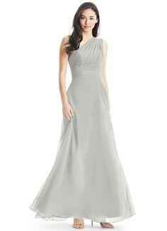 17939c931b4 Ashley is a floor-length sleek one-shoulder gown made of chiffon.