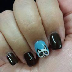 grumpy cat nail art...