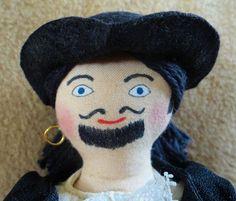 Pirate Doll  OOAK Cloth Doll by JoellesDolls on Etsy, $30.00