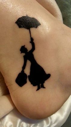 My ankle tattoo. #marypoppins #tattoo