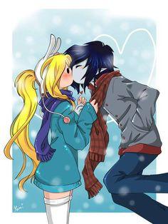 Adventure Time - Female Finn and Male Marceline