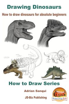 """Read """"Drawing Dinosaurs: How To Draw Dinosaurs for Absolute Beginners"""" by Adrian Sanqui available from Rakuten Kobo. Table of ContentsIntroduction: Drawing a DinosaurDrawing toolsDrawing SoftwareDinosaur HeadsT-rexDilophosaurusPachycepha. Hard Drawings, Cartoon Drawings, Animal Drawings, Drawing Animals, Doodle Drawings, Book Drawing, Drawing Tips, Drawing Ideas, Learn Drawing"""