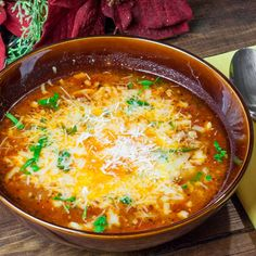 Lasagna Soup - All the flavors of traditional Lasagna in a bowl!