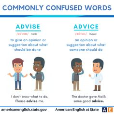 Commonly confused words: Advise vs Advice