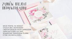 Specjalizujemy się w tworzeniu indywidualnych projektów zaproszeń ślubnych, wg pomysłu Młodej Pary, dopasowanych do ich wizji wesela.  projektslub.com
