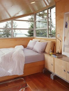 v c architect c3 tiny cabin camano 004   C 3 Cabin (And Plans) 480 Sq. Ft. Modern Loft Tiny Home