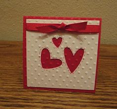 Indiana Inker - Valentine's Day Mini Card  Stampin' Up!