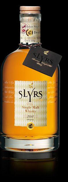 SLYRS Whisky. Single malt whiskey produced at Schliersee, Bavaria.