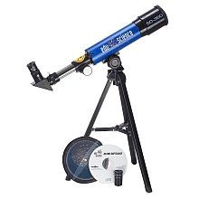 Edu-Science - Land & Sky 360 Tabletop Refractor Telescope - Blue