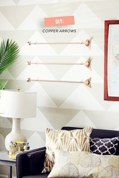 DIY Copper Arrows  Read more - http://www.stylemepretty.com/living/2014/01/28/diy-copper-arrows/