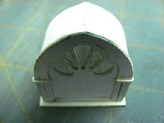 Dollhouse Miniature Furniture - Tutorials   1 inch minis: How to make a 1 inch scale cathedral radio from paper