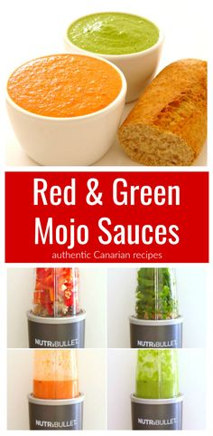 Mojo Sauce Recipe | This recipe shows you how to make amazing Canarian mojo sauces just like they have in the Canary Islands! The red mojo sauce is hot and spicy, and the green mojo sauce is smooth and cool. Mojo is my favourite Canarian food and I'm so happy I can make it at home now!