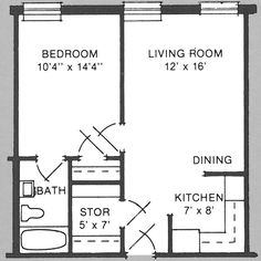 700 sq ft one bedroom apartment layout - basement ideas - flip this design