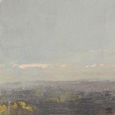 """Rich Bowman, Pink Through., 5x5"""", oil on canvas"""