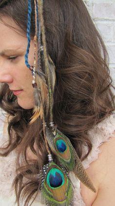 Third Eye Feather Hair Clip on Etsy