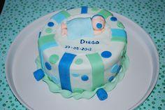 tarta para el bautizo de Diego
