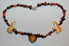 Vintage / Bear / Fetish / Amber / Necklace / Native American / Southwest / Art / old jewelry jewellery by AmericanHomestead on Etsy