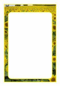 free sunflower page borders for word - Google Search: