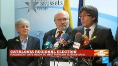 Catalonia regional vote: Former Catalan leader Carles Puigdemont gives p...