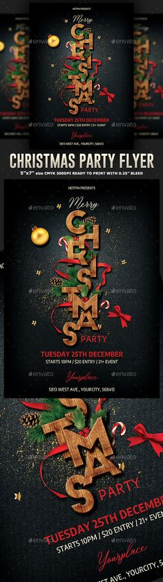 Buy Elegant Christmas Party Flyer by Hotpin on GraphicRiver. Elegant Christmas Party Flyer Template is very modern psd flyer that will give the perfect promotion for your Xmas ev. Christmas Poster, Christmas Night, Elegant Christmas, Christmas Flyer Template, Christmas Templates, Negative Space Photography, Poster Photography, New Year's Eve Celebrations, Christmas Invitations