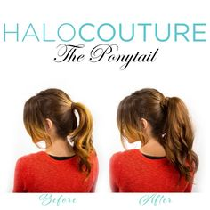 HALOCOUTURE Proudly introduces The Ponytail! www.halocouture.com