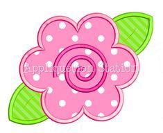 Flower Swirl Applique Machine Embroidery by AppliquetionStation, $3.50