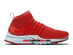 8a946448dfe Nike Air Presto Ultra Flyknit Chaussures Nike Running Pas Cher Pour Homme  Rouge Blanc 835570-600