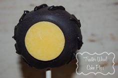 Such a cute idea! Tractor wheel cake pops.