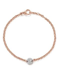 POMELLATO Sabbia Bracelet With Diamonds In 18K Rose Gold. #pomellato #gold