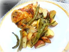 Stacey Snacks: Easy One Pan Dinner: Chicken on Lemony Green Beans w/ Potatoes & Giveaway Winner!