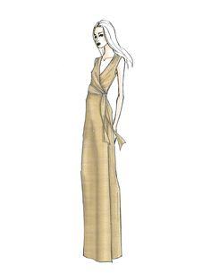 Nina Metallic Gown
