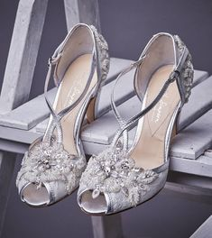 charlotte ivory lace wedding shoes by rachel simpson | notonthehighstreet.com
