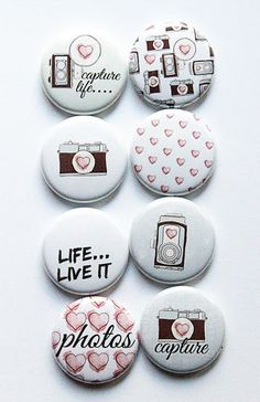 Capture Life 1 Flair by aflairforbuttons on Etsy, $6.00 #aflairforbuttons #projectlife #camera #flair #flairbuttons