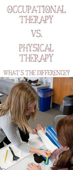occupational-therapy-vs-physical-therapy-differences. Repinned by SOS Inc. Resources pinterest.com/sostherapy/.