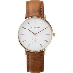The Horse Classic Rose Gold Watch | White/Tan