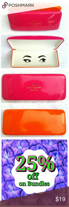 Kate Spade Hot Pink & Orange Glasses Case Kate Spade Hot Pink Orange Glasses Case kate spade Accessories Glasses